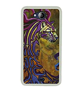 Cheetah 2D Hard Polycarbonate Designer Back Case Cover for Micromax Canvas Play Q355