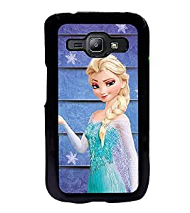 Fuson Premium 2D Back Case Cover Angel with Plait With black Background Degined For Samsung Galaxy J1::Samsung Galaxy J1 J100F