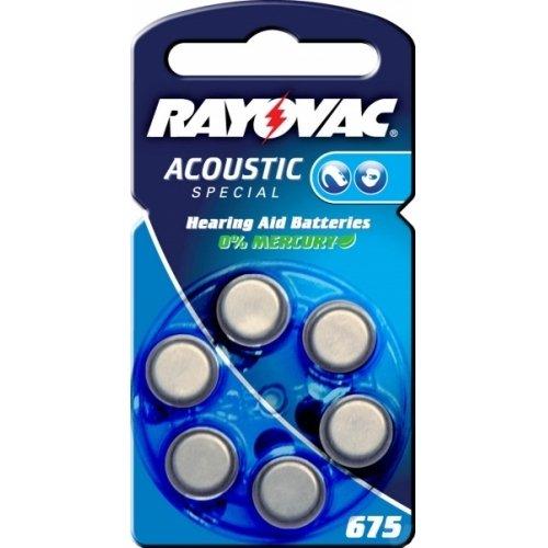 Rayovac Extra Advanced batterie pour prothèse auditive type/réf. 675AE 6 unités sous blister