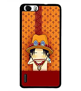 PrintDhaba Cartoon D-5415 Back Case Cover for HUAWEI HONOR 6 (Multi-Coloured)