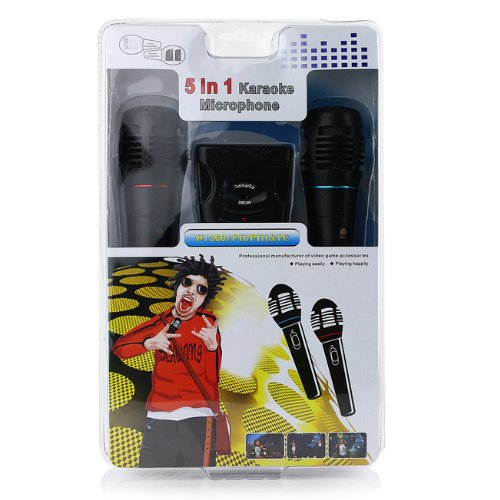 Promise New 5 In1 Microphone Mic Set For Wii Ps3 Ps2 Xbox 360 Pc