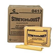 "Chicopee 0413 Masslinn Stretch'n Dust Cloth, 12.6"" Width x 17"" Length, Yellow Orange, 40-Pack (Case of 10)"