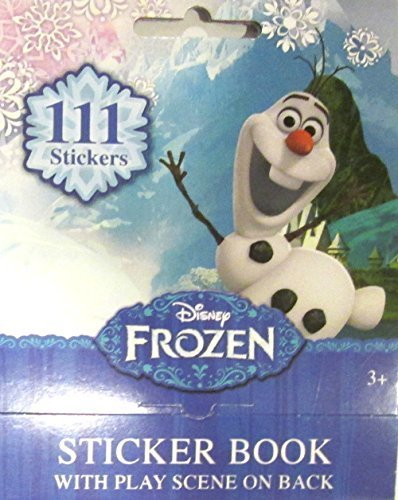 "Disney Frozen Olaf Sticker Book with Play Scene on Back 111 Stickers (4"" X 5"")"