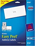 Avery Easy Peel Address Labels, Inkjet Printers, White, 1 x 2.62 Inch, Box of 750 labels (25 Sheets / 30 per Sheet) (08160)