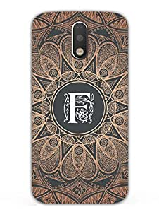 Initial F - Classy And Personalised - Hard Back Case Cover for Moto G4 Plus - Superior Matte Finish - HD Printed Cases and Covers