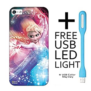 Hamee Disney Frozen Princess Licensed Hard Back Case Cover For iPhone LeTV LeEco 1S Cover with Free LED Light - Combo 14