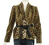 INC International Concepts Faux Fur Belted Jacket