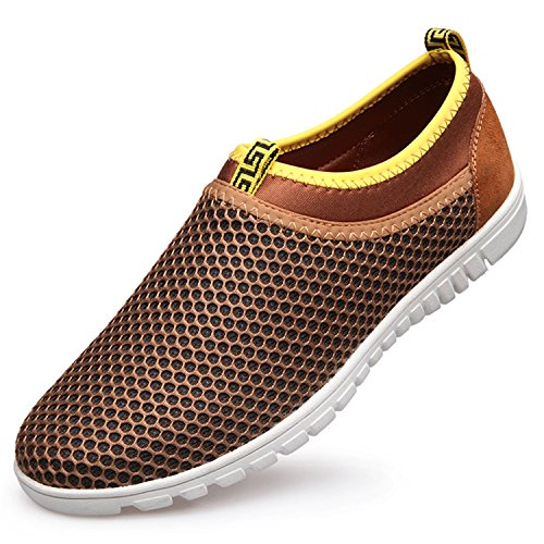 244d7a8f5ea37 Men s Breathable Mesh Slip On Loafers Outdoor Sport Running - Import ...