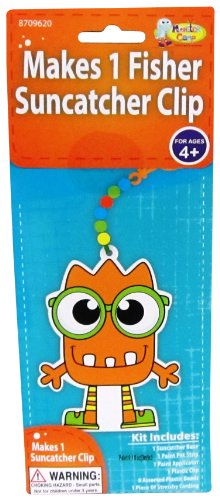 Monster Camp Fisher Back Pack Clip Craft Activity Kit