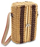 Picnic Time Bacchus Insulated Wine Basket with Service for Two, Moka