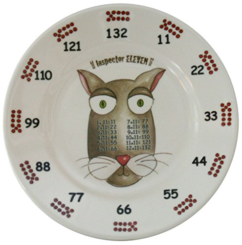 The Multiples Times Table Dinnerware Inspector Eleven 6.5 inch Melamine Plate