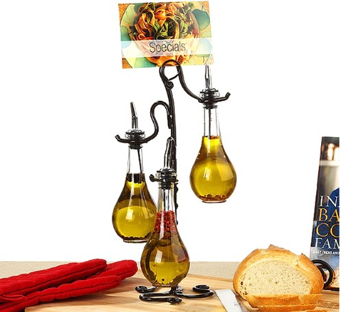 Roman Olive Oil Amp Vinegar Kitchen Liquid Dispenser Glass