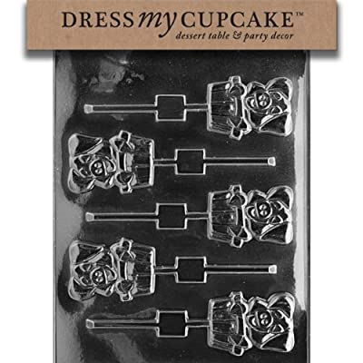 Dress My Cupcake Chocolate Candy Mold, Pig in Tub Lollipop