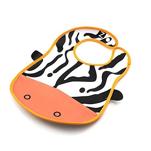 Cute Cartoon Animal Infant Toddler Bib Pvc Waterproof Baby Feeding Saliva Towel Zebra front-518766