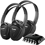 Brand New Power Acoustik 2 Sets Of Single-Channel Ir Wireless Headphones With Transmitter