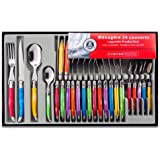 Laguiole Production 438580 Stainless Steel Laguiole Set Handle, Set of 24, Multi-Colour