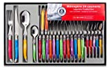 Laguiole-Production-438580-Mnagre-24-Pices-Acier-Inox-Multicolore
