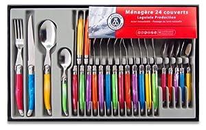 Laguiole Production 438580 Ménagère 24 Pièces Acier Inox Multicolore