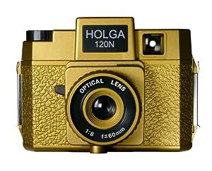 Holga 180120 Oscar Holgawood Collection Plastic Camera (Gold)