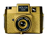 Holga Oscar Holgawood Collection Plastic Camera (Gold)