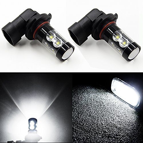 JDM ASTAR Extremely Bright Max 50W High Power H10 9145 LED Bulbs for DRL or Fog Lights, Xenon White (Fog Bulb White compare prices)