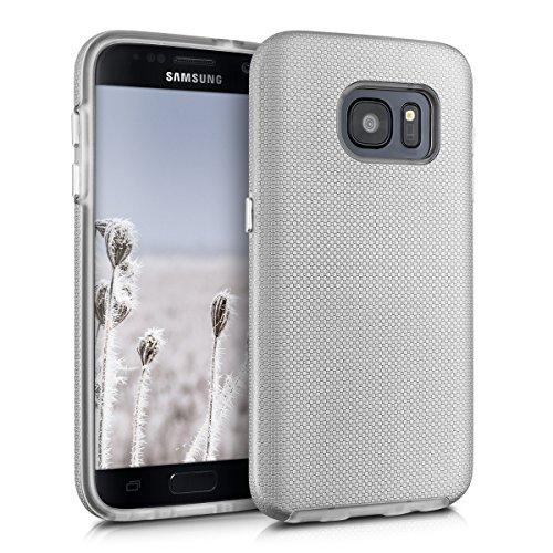 kalibri-Armor-Hlle-fr-Samsung-Galaxy-S7-TPU-Silikon-und-Kunststoff-Case-in-Silber