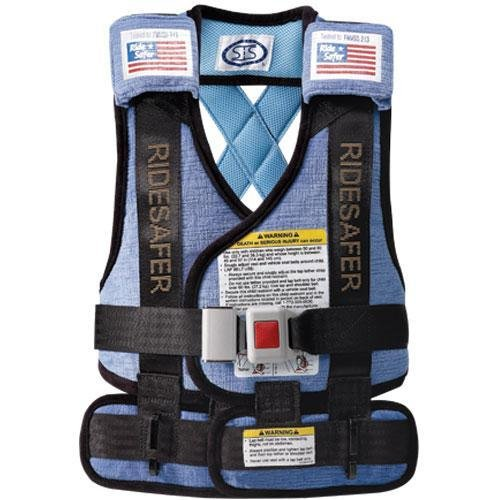 Best Review Of Safe Traffic System Ride Safer 3 Travel Vest, Blue, Large