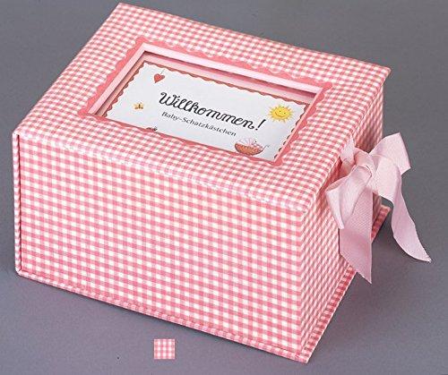 """Baby-Schatzkästchen """"Willkommen!"""" (rosa)"""