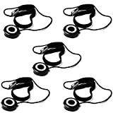 5 Pcs Altura Photo Lens Cap Keeper Holder + Premium MagicFiber Cleaning Cloth