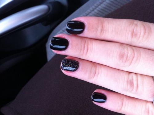 Amazon Com Harmony Gelish Uv Soak Off Gel Polish Black Shadow 0 5 Oz Nail Polish Beauty