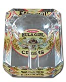 One Small Crystal Ashtray w/ Hula Girl Logo; Measures 80 X 60 mm / 3.15 x 2.36 inches