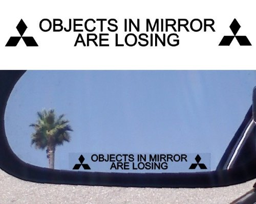 (2) Mirror Decals for MITSUBISHI EVOLUTION X EVO ECLIPSE 3000GT GSR MR LANCER DIAMANTE MIRAGE GALANT LS XLS OUTLANDER ENDEAVOR MONTERO GTS ES GS SPORT GT SPYDER (Mitsubishi Mirage Sticker compare prices)