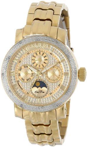 Akribos XXIV Grandiose Diamond Multi-Function Gold-tone Ladies Watch AK614YG