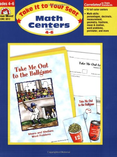 Take It to Your Seat Math Centers, Grades 4-6 (Math Learning Centers compare prices)