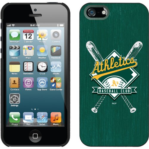 Great Price Oakland Athletics - Bats design on a Black iPhone 5 Thinshield Snap-On Case by Coveroo