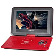 """Koolertron 10"""" Portable DVD Player With 270°Rotating Swivel LCD"""