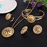 Hat-Habesha-Jewelry-Gift-Gold-Plated-Ethiopian-Necklace-Pendant-Earring-Ring-Bangle-Sets
