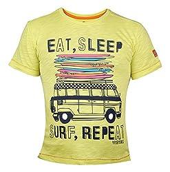 Vitamins Boys' T-Shirt (08B-758-10-M.Green_Light Green_9 - 10 Years)