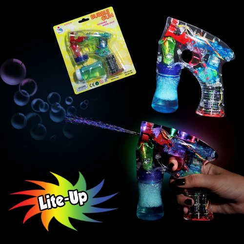 LED Flashing Bubble Gun with Bubble solution, Lot of 2 sets - 1