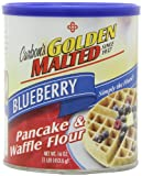 Golden Malted Pancake & Waffle Flour, Blueberry, 16-Ounce Can