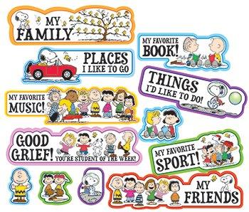 Eureka Peanuts Star of the Week Mini Bulletin Board Sets