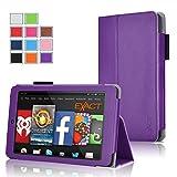 Fire HD 6 Case - Exact Amazon Kindle Fire HD 6 Case [PRO Series] - Premium PU Leather Folio Case for Amazon Kindle Fire HD 6 (2014) Purple