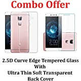Febelo Combo Pack Of 2.5D 0.33mm Pro HD Curve Edge Tempered Glass Screen Protector + Perfect Fitting Soft Silicon...