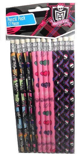 12 Monster High Pencils Party Favors - 1