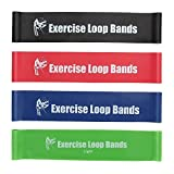 Fitnessbänder, Smacho 4er Set Trainingsbänder Gymnastikbänder Widerstand Bänder Fitnessband Resistance Band Sportband Latex Loop-Band für Fitness, Reha und Physiotherapie (4-Set)