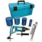 Makita 8406X3/2 240V Diamond Core and Hammer Drill Set with 4-Cores
