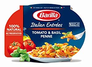 Barilla Italian Entrees, Tomato & Basil Penne, 9 Ounce (Pack of 6)
