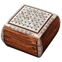 Egyptian Mosaic Jewelry Trinket Box Mother of Pearl BX1