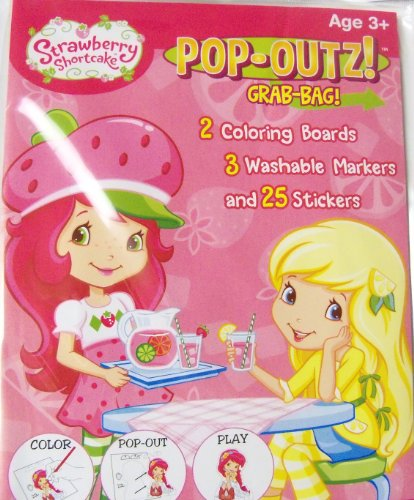 Strawberry Shortcake Pop-Outz Grab Bag ~ Color, Pop-out, Play (Friends and Fruit) - 1