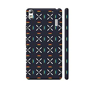 Colorpur Colorful Geometric Floral Pattern On Black Artwork On Lenovo A7000 Cover (Designer Mobile Back Case) | Artist: Designer Chennai